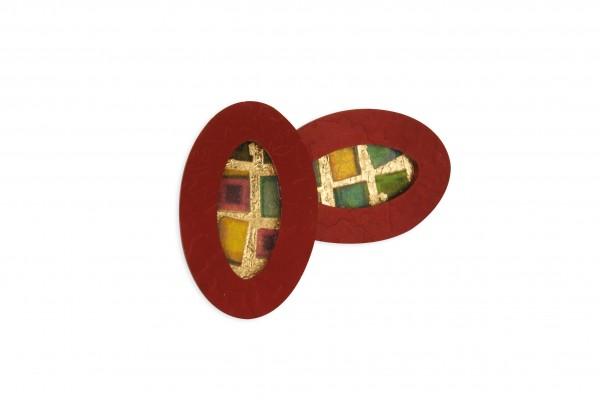 Ohrstecker Oval geprägt Bild 504