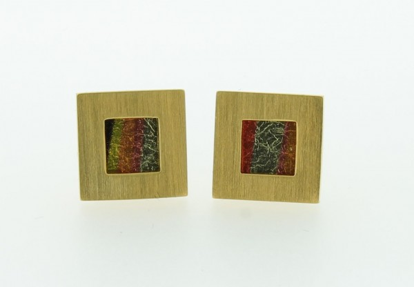 Ohrstecker Quadrat Bild 508 Gold