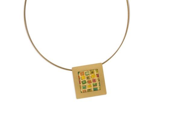 Anhänger Quadrat klein geprägt Bild 504
