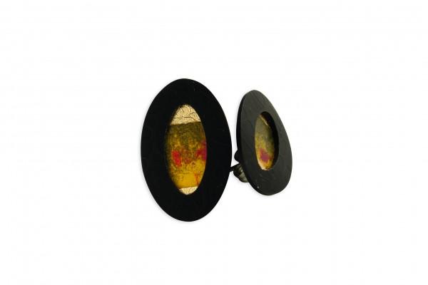 Ohrstecker Oval geprägt Bild 710