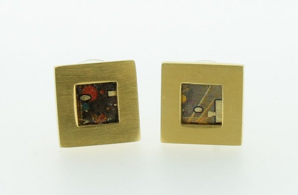 Ohrstecker Quadrat Bild 707 Gold