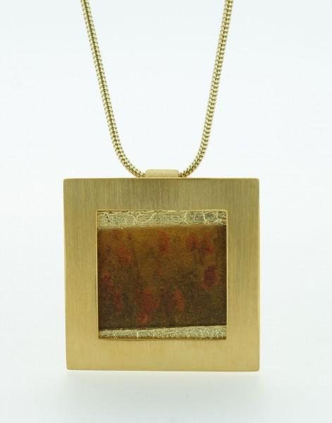 Anhänger Quadrat groß Bild 710 Gold