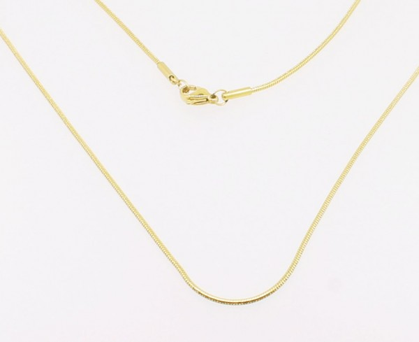 Schlangenkette Edelstahl-gold
