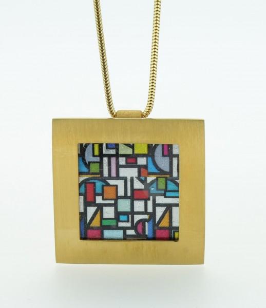 Anhänger Quadrat groß Bild 702 Gold