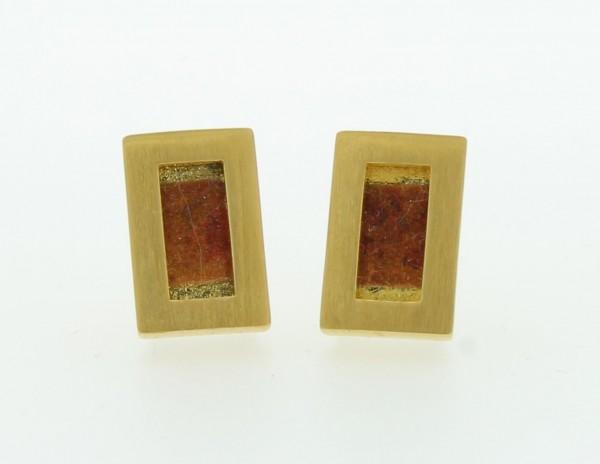 Ohrstecker Rechteck Bild 710 Gold